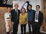 Izaskun Bernal, presidenta de la Asociación junto a Ángel Gabilondo, Amparo Rubiales, Pedro Zerolo y Jaume D'Urgell