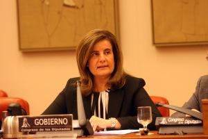 Fátima Báñez afirma que se ha estabilizado el mercado laboral y se ha frenado el proceso de destrucción de empleo / Foto: Ministerio de Empleo y Seguridad Social