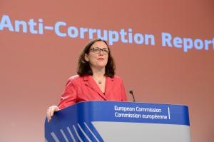 Cecilia Malmström, Comisaria de Interior UE, presenta el Informe sobre Corrupción / Foto: Comisión Europea