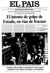 Edición Especial de El País en la mañana del 24-F / Foto: El Pais