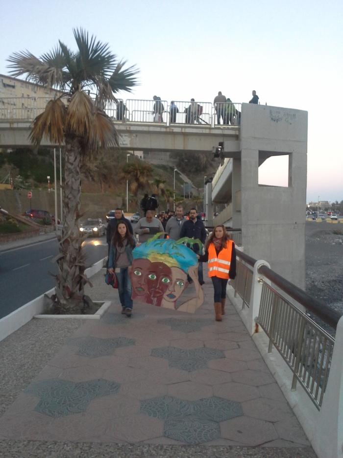La Marcha Tarajal avanza por el litoral de Ceuta