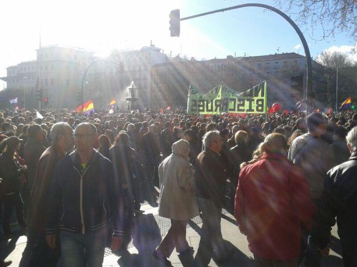Manifestantes 22M / Foto: @juliobasurco