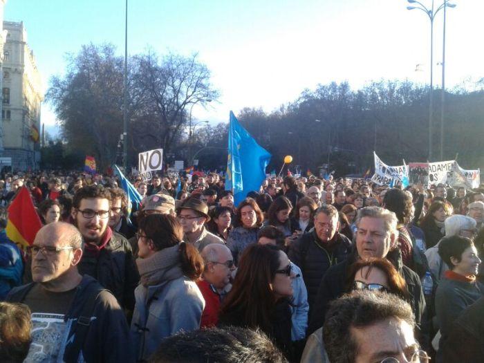 Marchas de la Dignidad - 22M / Foto: @juliobasurco