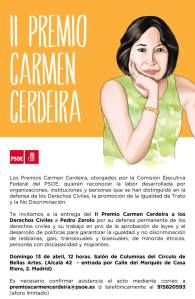 Invitación a la II Edición Premio Carmen Cerdeira