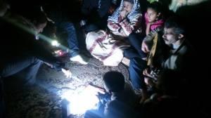 Imagen del rodaje en Gaza / cedida por Isabel Pérez
