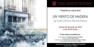 Invitación a la presentación de 'Un viento de madera'