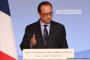 Hollande, Conferencia de Embajadores 2014 / Foto: Présidence de la République