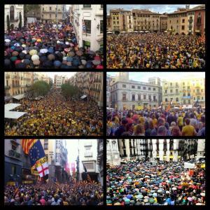 Concentraciones en distintos puntos de Cataluña / Foto: @jordims93
