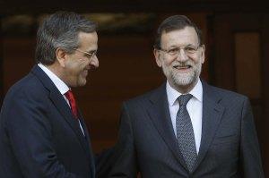Rajoy y Samaras en la visita de presidente del Gobierno a Grecia / Foto: Moncloa