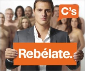 Cartel electoral Ciudadanos para la campaña de las elecciones catalanas de 2010