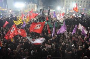 Celebración de la victoria de SYRIZA / Foto: @syriza_gr