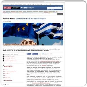 Artículo de Der Spiegel sobre la posible salida de Grecia del Euro