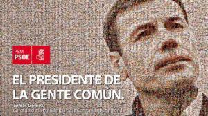 Cartel electoral de Tomás Gómez para las elecciones de 2011 / Foto: psoe.es