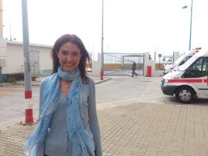 Isabel Allende en su visita a la Ciudad Autónoma de Ceuta / Foto: @Mari_Polin