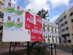 Carteles electorales (Ceuta) / Foto: @LOrtizGomez