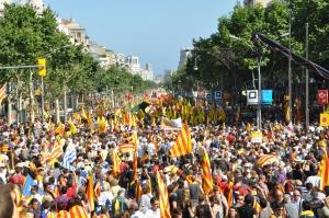 Manifestaciones independentistas en Cataluña