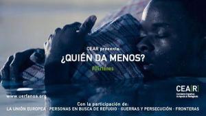 Imagen de la campaña de CEAR ´¿Quién da menos?'